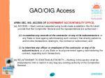 gao oig access84