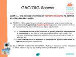 gao oig access85