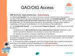 gao oig access86