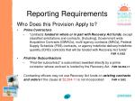 reporting requirements75