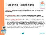 reporting requirements76