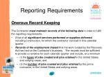 reporting requirements78