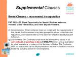 supplemental clauses