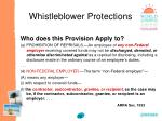 whistleblower protections70