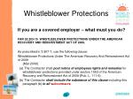 whistleblower protections72