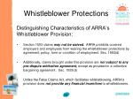 whistleblower protections73