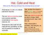 hot cold and heat