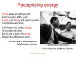 recognizing energy