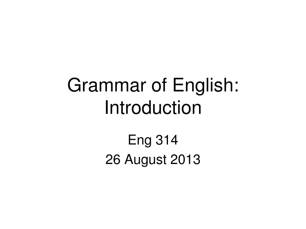 grammar of english introduction l.