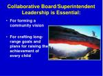 collaborative board superintendent leadership is essential