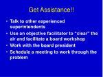 get assistance