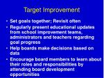 target improvement
