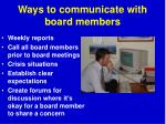 ways to communicate with board members