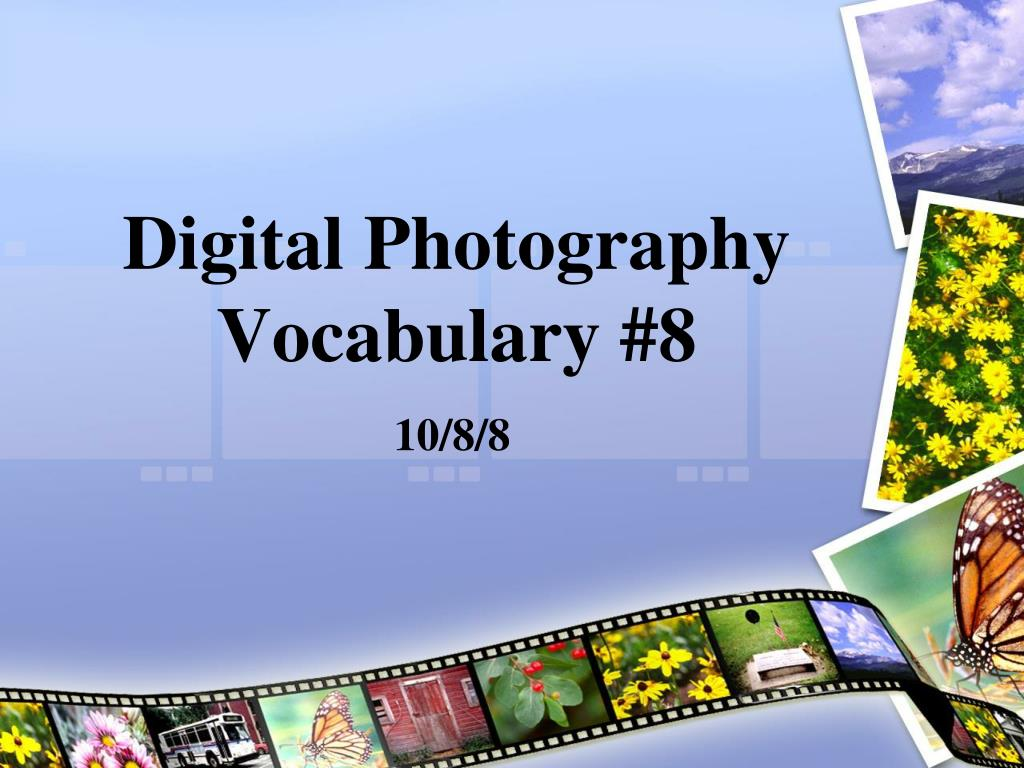 digital photography vocabulary 8 l.