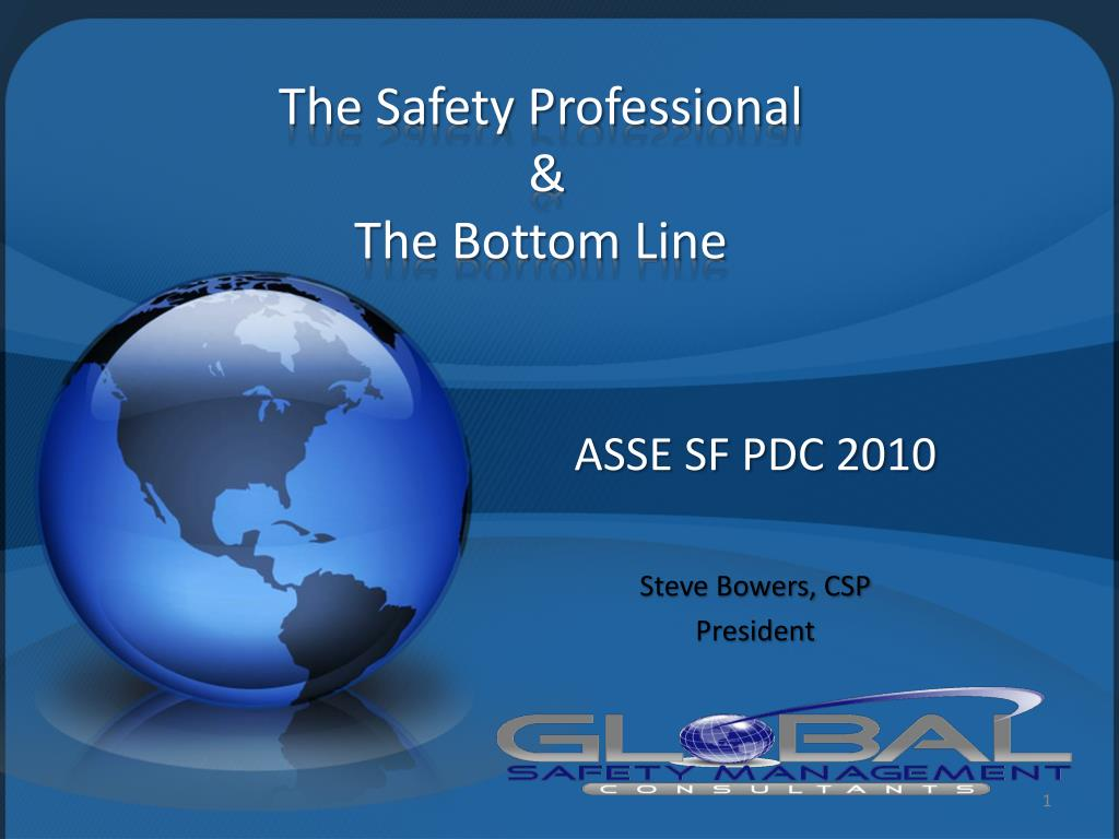 the safety professional the bottom line l.