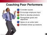 coaching poor performers