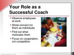 your role as a successful coach