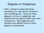 degrees of comparison2