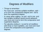 degrees of modifiers