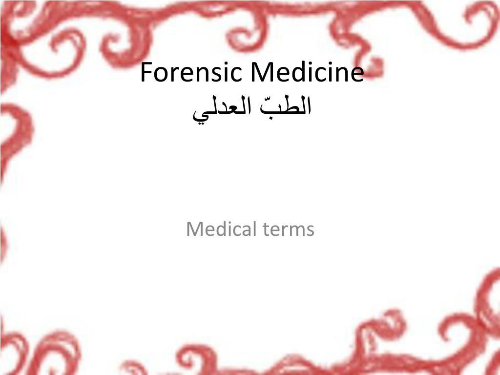 forensic medicine l.