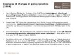 examples of changes in policy practice 2009