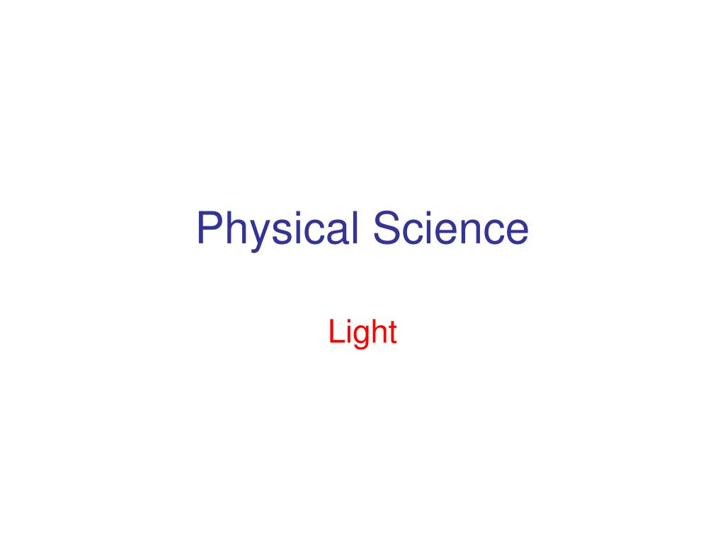 physical science l.