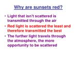 why are sunsets red