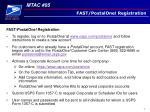 fast postalone registration