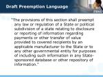 draft preemption language