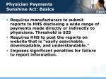 physician payments sunshine act basics