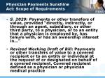 physician payments sunshine act scope of requirements