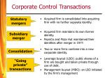 corporate control transactions