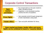 corporate control transactions5