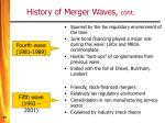 history of merger waves cont