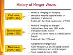 history of merger waves19