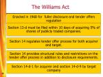 the williams act