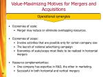 value maximizing motives for mergers and acquisitions15
