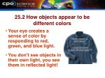 25 2 how objects appear to be different colors