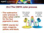 25 2 the cmyk color process