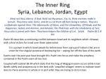 the inner ring syria lebanon jordan egypt