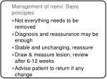 management of naevi basic principles
