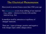 the electrical phenomenon