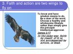 3 faith and action are two wings to fly on