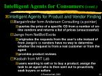intelligent agents for consumers cont38