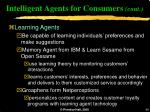 intelligent agents for consumers cont40