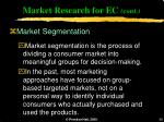 market research for ec cont