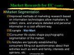 market research for ec cont27