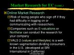 market research for ec cont30