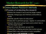 market research for ec cont31