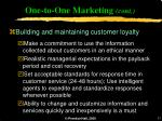 one to one marketing cont17